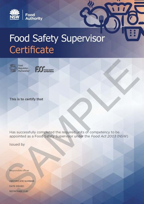 New FSS Cert