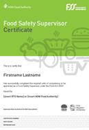 NSW FSS Certificate